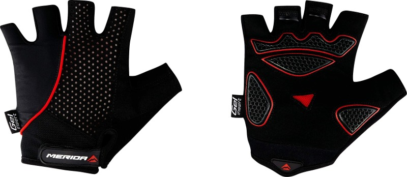Rukavice krátke Merida Light Sport červeno-čierne  e62dfc487e